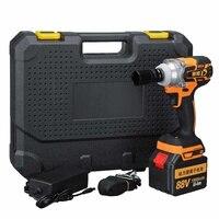 Chave elétrica de impacto sem escova  88v 15000mah bateria de lítio torque máximo de 380nm ferramentas elétricas chave soquete sem fio