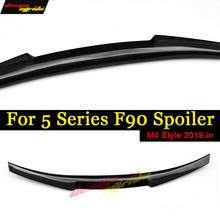F90 M5 Spoiler Lip Wing Rear tail M4 Style Carbon fiber black For BMW M5 Rear Trunk Spoiler Tail Rear Wing F90 Spoiler Tail 19+ for honda civic 2016 2017 type r style carbon fiber spoiler car decoration rear roof tail wing abs plastic black pattern spoiler