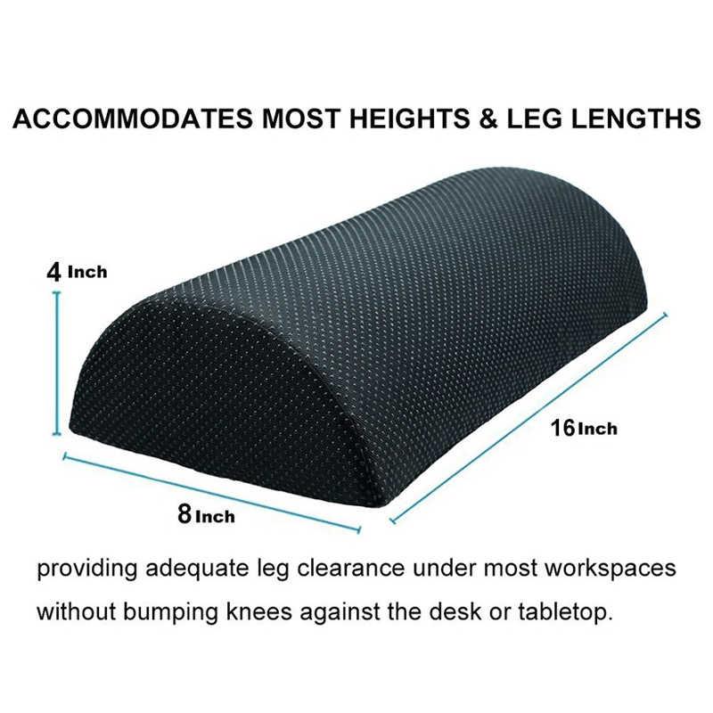 Лидер продаж-комфорт для ног Подушка, снижающая нагрузку из пены с эффектом памяти под офисный стол полуцилиндром дома ног массажер для похудения живота подушка для релаксации