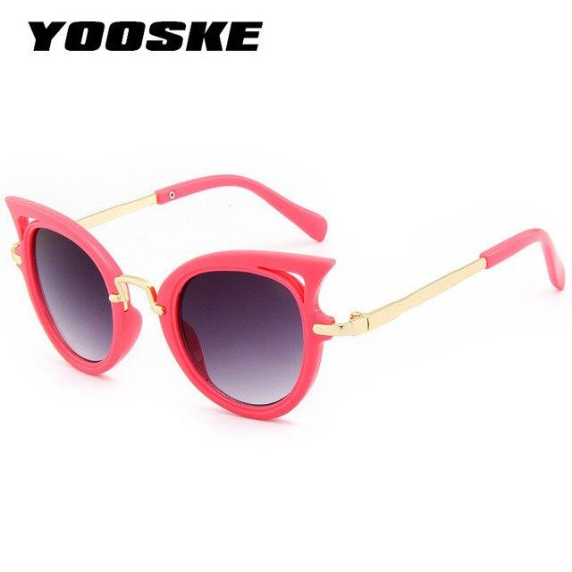 84e21f4d151 YOOSKE Kids Sunglasses Boys Girls Cat Eye Sun Glasses Shades Baby Cute  Brand UV400 Lens Classic