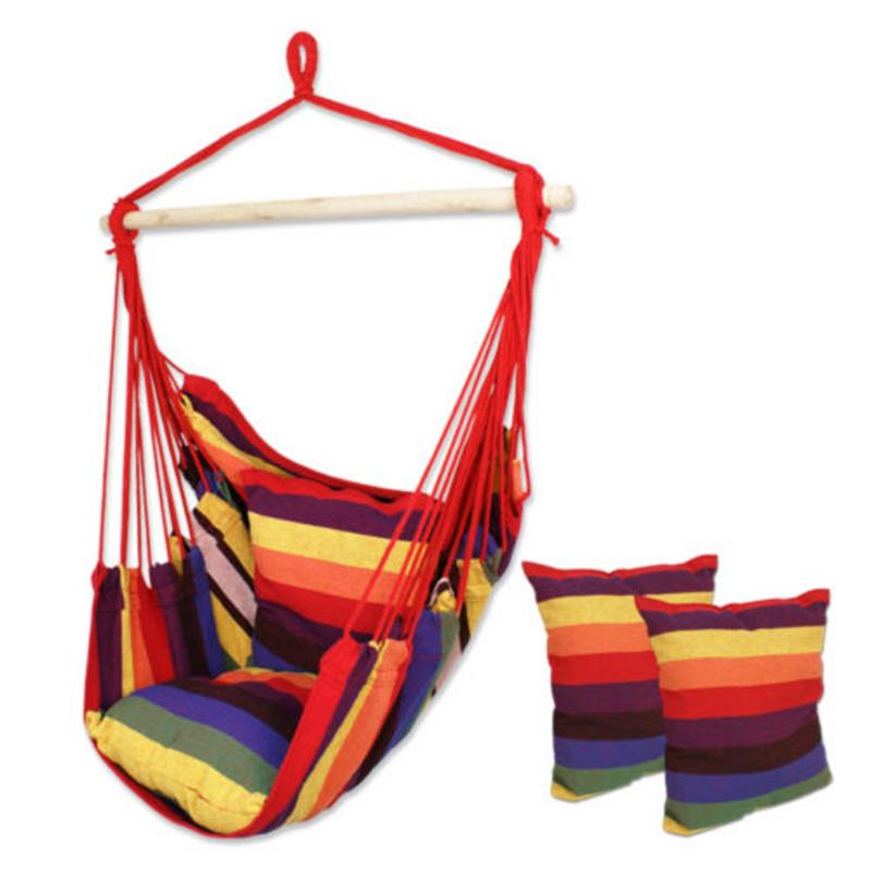 Hammock Garden With 2-Pillows For Indoor New Comforable Chairs-Seat Hanging-Chair Swing