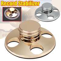Stylish Turntable Copper Disc Record Stabilizer Clamp for LP Vinyl Record Player Silver Gold Colors Record Vibration Balanced