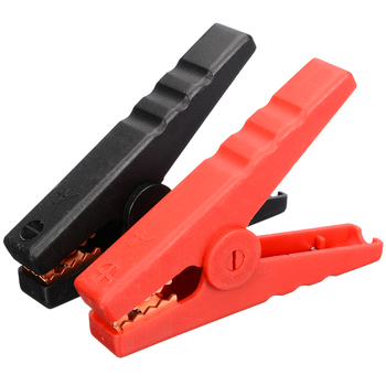 2pcs 100A Car Alligator Clips Battery Clamps Crocodile Clip Red Black Insulated Alligator Clip Clamp 1 pair car battery terminal insulation clamp clips protection protector sleeve covers pvc 62 30 25mm black red