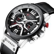 2019 CURREN Luxury Brand Men Military Sport Watches Men's Quartz Clock Leather Strap Waterproof Date Wristwatch Reloj Hombre стоимость