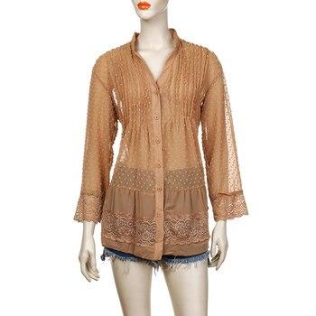 2019 Large Size 4xl 5xl Summer Clothing Lace Shirts Loose Chiffon Dress Loose blouse shirt Sleeve V-Neck Shirt Female Blouses 5
