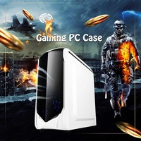 LEORY 375X185X380mm Transparent Side Panel Micro ATX Desktop PC Computer PC Case Support 180mm Wide CPU Radiator