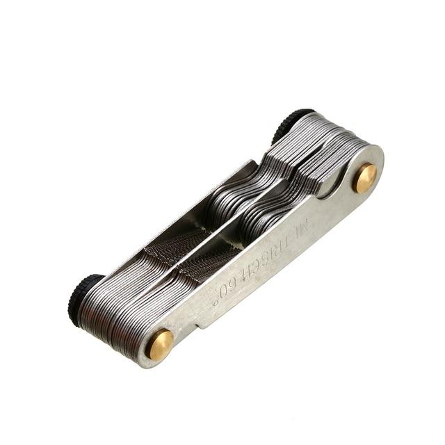 Conector de rosca de 60 grados Gage 52 piezas herramienta de medición de rosca de acero