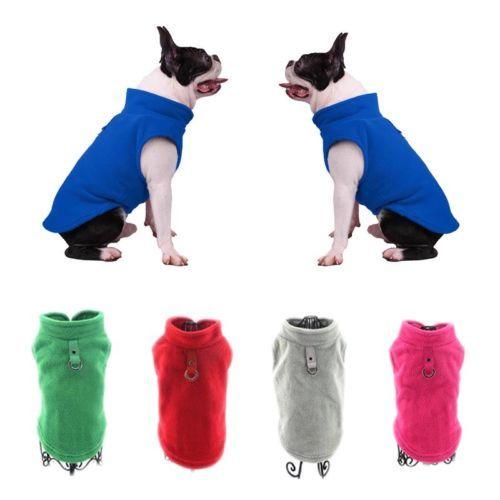 Dog Pet Puppy T-Shirt Jacket Fleece Vest Clothes Coat Apparel Costumes Warmer 1
