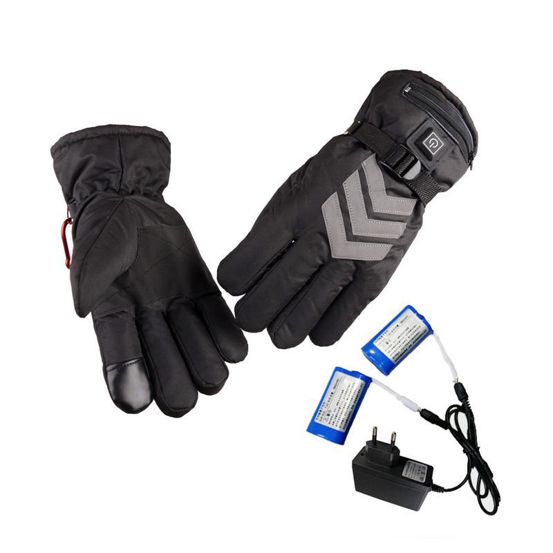 Prise US/EU gants chauffants hiver batterie Rechargeable USB alimenté pour moto chasse main réchauffeur Ski cyclisme gants électriques