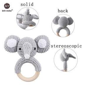 Image 4 - Baby Toys 1set Crochet Amigurumi Elephant Owl Rattle Bell Custom Newborn Pacifier Clip Montessori Toy Educational Baby Rattle