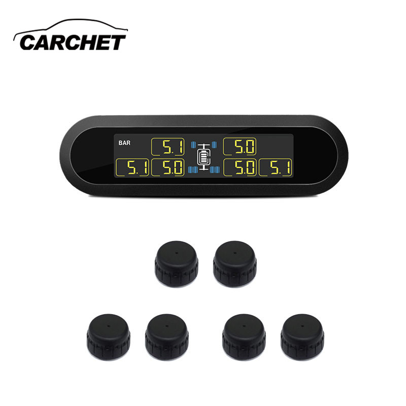 CARCHET T650 Solar Energy TPMS Business RV Family Travel Trailer Wireless Tire Pressure Monitoring System TPMS