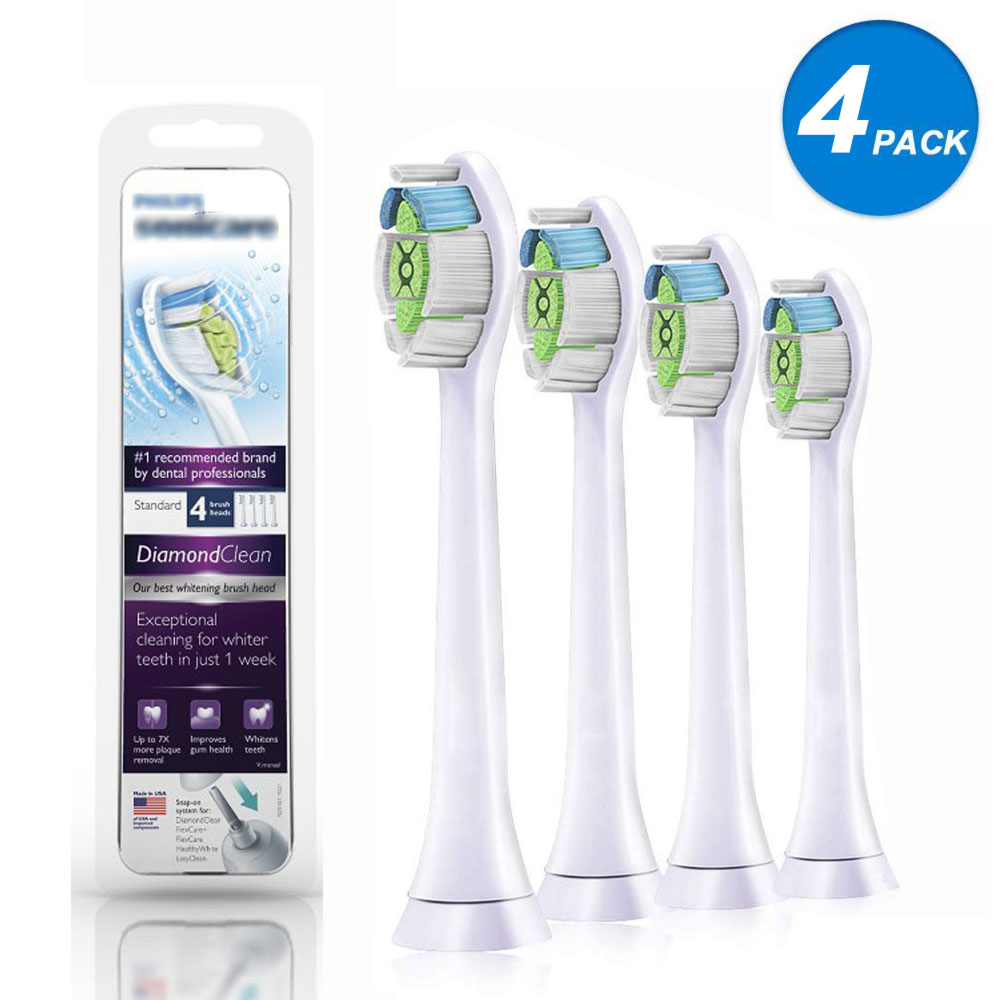 4pcs Replacement Toothbrush Heads For Philips Sonicare DiamondClean HydroClean Black white HX6064/65 Electric Tooth Brush Heads4pcs Replacement Toothbrush Heads For Philips Sonicare DiamondClean HydroClean Black white HX6064/65 Electric Tooth Brush Heads