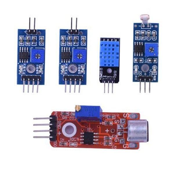 16 in 1 Modules Sensor Kit Project Super Starter Kits for Arduino UNO R3 Mega2560 Mega328 Nano Raspberry Pi 3 2 Model B K62 5