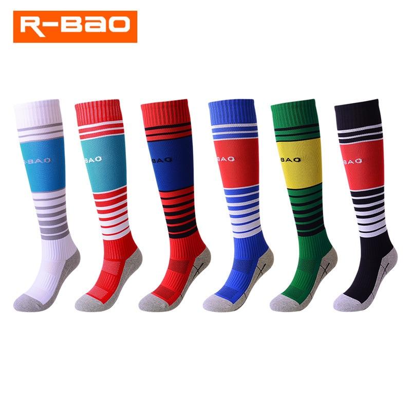 R BAO Children Professional Brand Sports Baseball Football Sock Kids Europe Soccer Club Boy girls Running Long Stockings Socks in Soccer Socks from Sports Entertainment