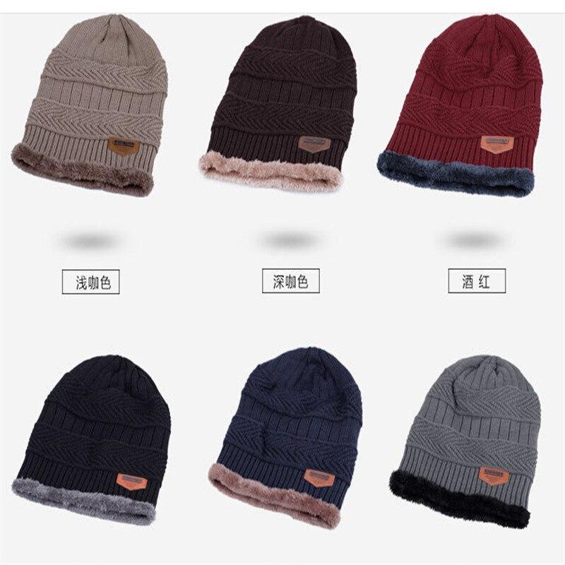 Popular Solid Warm Fashion Causal Ladies Hot Women Men Winter Knitted   Beanie   Fur Baggy Wool Cap Skull Slouchy Warm Ski Hat