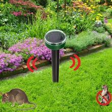 Hot ใหม่ Mole Repellent พลังงานแสงอาทิตย์เป็นมิตรกับสิ่งแวดล้อม Ultrasonic Gopher Mole งู Repellent MouseTrap