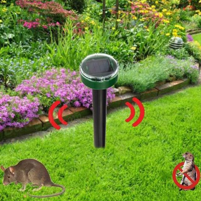 Hot New Mole Repellent Solar Power Eco Friendly Ultrasonic Gopher Mole Snake Repellent MouseTrap