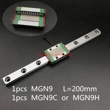AXK Линейный Рельс ЧПУ Запчасти 9 мм линейные направляющие Mgn9 L = 200 железнодорожные пути + Mgn9c или Mgn9h длинные перевозки для ЧПУ X Y оси Z