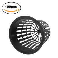 100pcs 3 inch Heavy Duty Mesh flower seedling Pot Net Cup Basket Hydroponic Aeroponic Planting Grow Clone