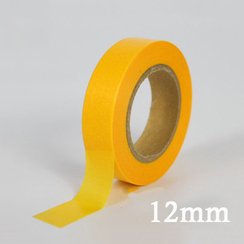Masking Tape White Color6/ 12/18/24mm Single Side Tape Adhesive Crepe Paper For Painting Accessories Drawing Decoration