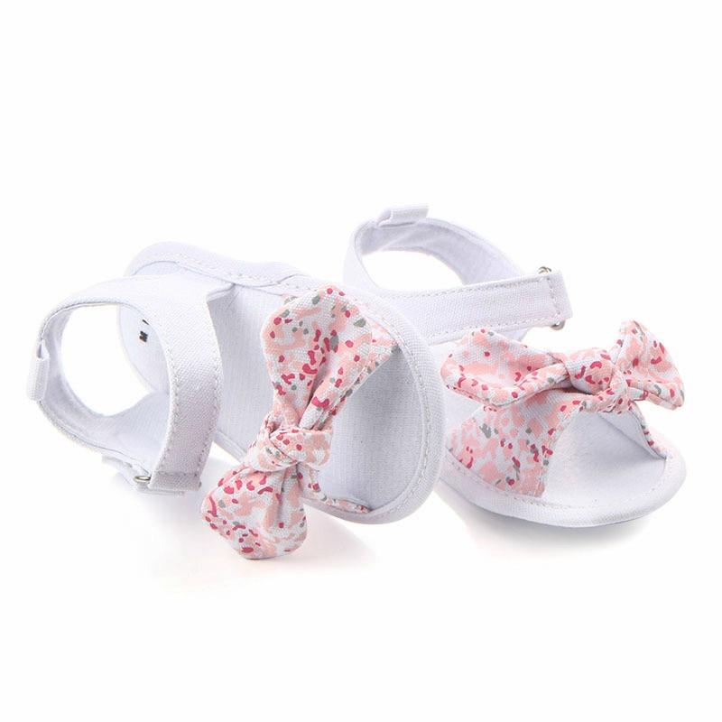 MAYA STEPAN 1 Pair Children Baby Kids Boys Girls Shoes Non-Slip Canvas Bowknot Toddlers Newborn Infantil Sandals 6