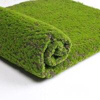 1 шт. Искусственный мох поддельные зеленые растения Искусственный мох для магазина домашний декор для дворика Зеленый 100*100 см