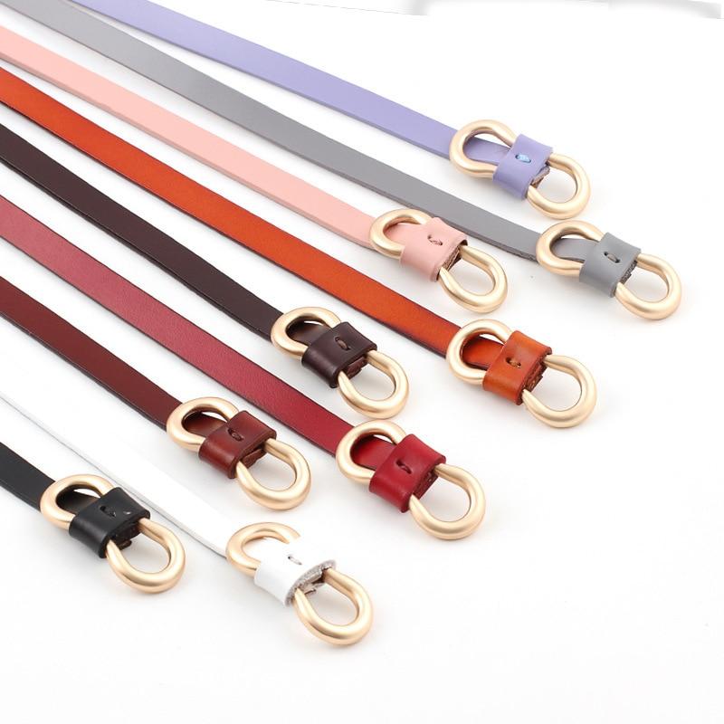 2019 New Korean Simple Cute Knot Belt Female Long Black Red Pink Purple White Thin Skinny Waist Belts For Women Party Dresses