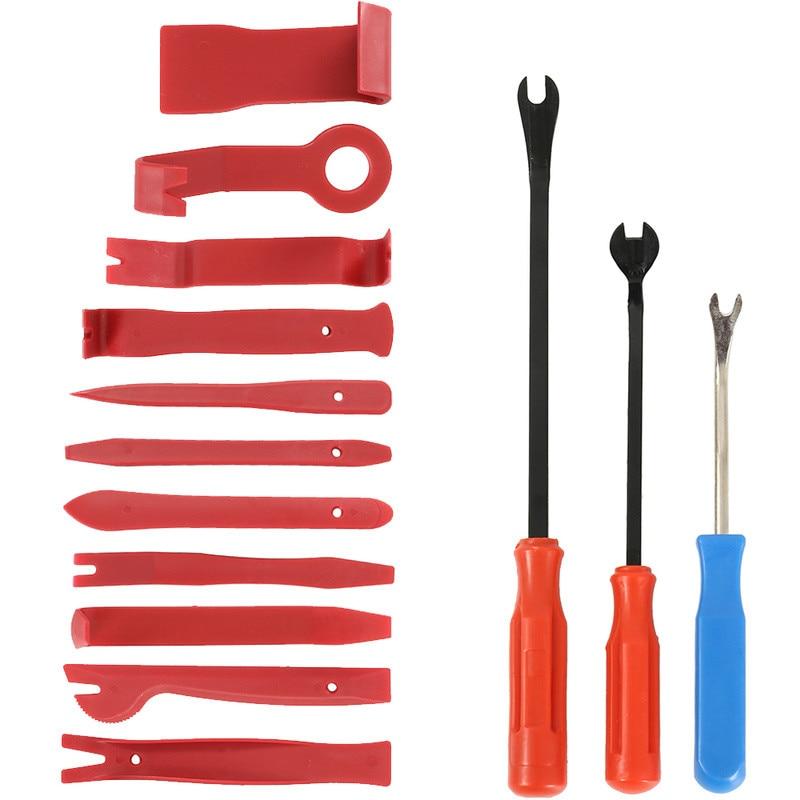 14pcs Car Repair Tool Set Radio Door Plastic Clip Panel Hand-held Disassembly Removal Tool Car Repair Combination Suit