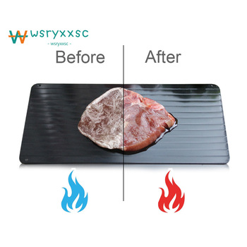 2018 New High Quality Aluminum Defrost Tray Steak Frozen Food Meat Quick Defrost Plate Frozen Food Speed Thawing Board thớt rã đông thực phẩm