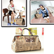 Casual fashion trend handbags large capacity handbag printing zipper shoulder bag