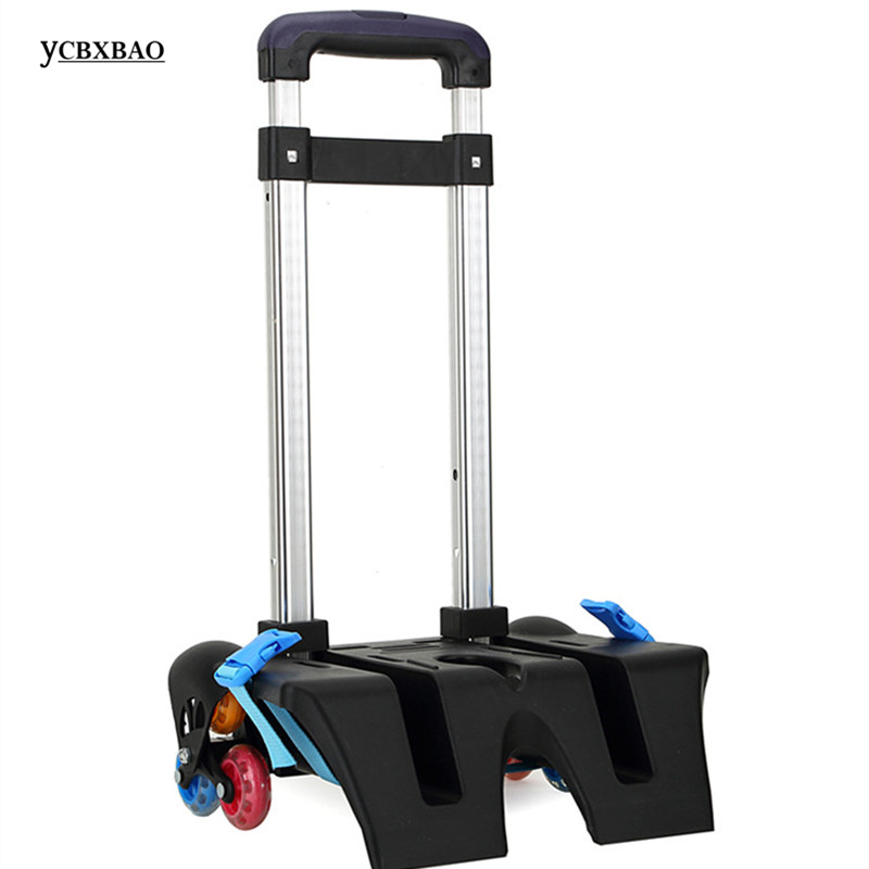 6 Wheel Fold Pull Rod Bracket Roll Cart Trolley ,mochila Infantil Rodinha Mochilas School Kids,School Bags Easy Climb The Stairs