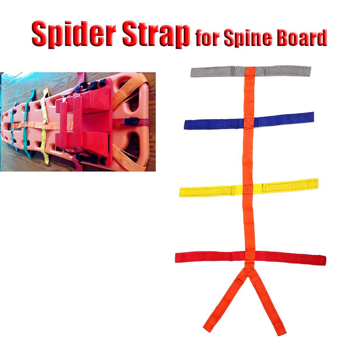 Ajustable de la columna de apoyo de inmovilización Camilla arañas correa de fijación cinturón espinal Dispositivo de seguridad Personal herramienta de cuidado