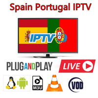 Europe IPTV Subscription Spain French Poland UK Portugal IT Spanish Mediaset Premium For Android Box Smart TV IPTV M3 Enigma2