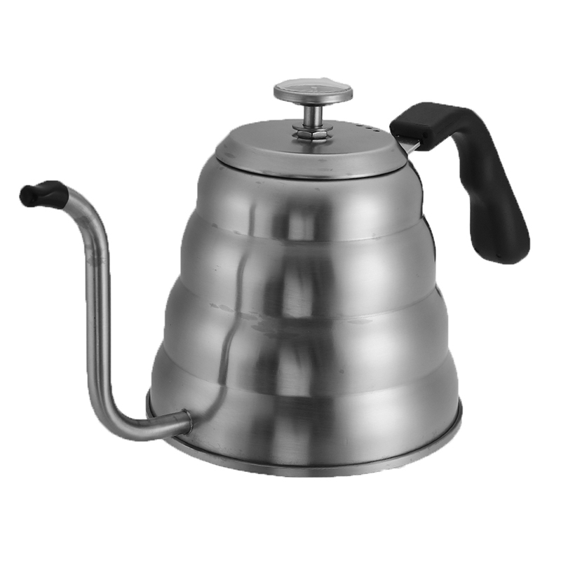 Home 1200ml Tea Coffee Pot Tea Coffee Drip With Thermometer Teapot Barista Drink Stainless Steel Coffee Kettle Precise Temperature High Quality