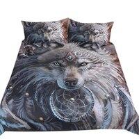 IALJ Top Home Textile Bedding Three Piece 3D Print Duvet Cover Constellation Bed Set Bohemian Bedclothes