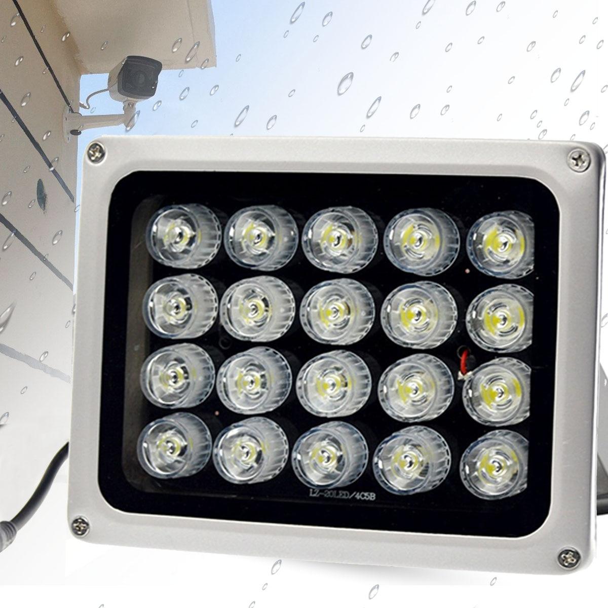 90 degrés 12 V 20 LEDs 850nm Infrarouge IR Lampe IP65 Étanche Vision Nocturne Infrarouge Illuminatoring pour La Maison DE Sécurité CCTV