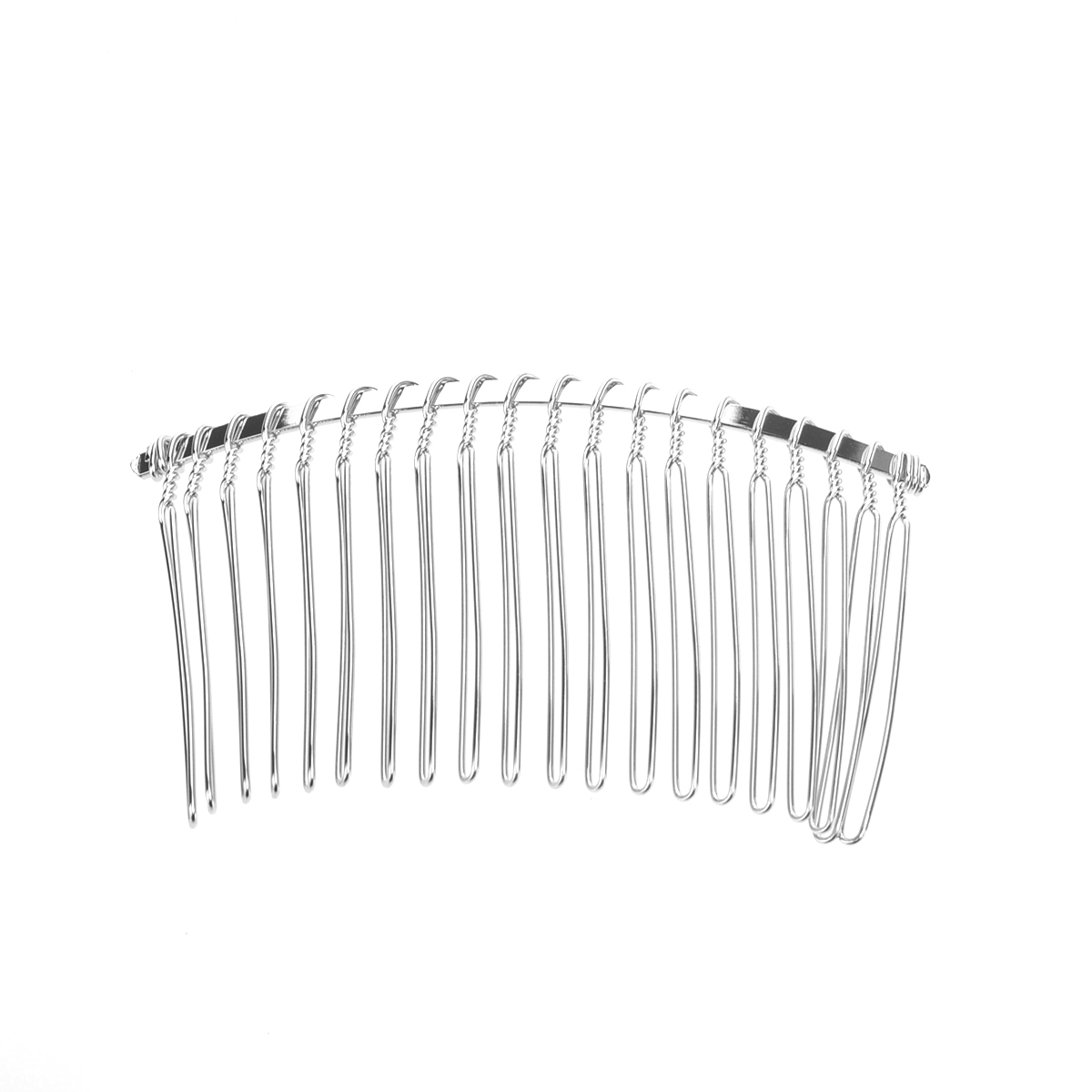 3pcs 7.8cm 20 Teeth Fancy DIY Metal Wire Hair Clip Combs Bridal Wedding Veil Combs(China)