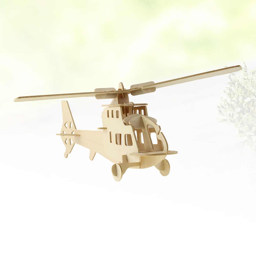 1 шт. аэроплан головоломка DIY деревянная Сборная модель 3D игра-головоломка самолет обучающая игрушка для детей