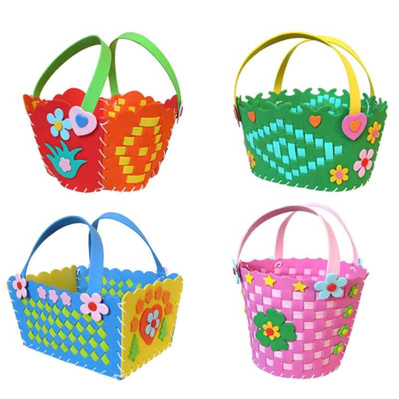 DIY 3D Kids Child EVA Foam Basket Early Learning Puzzle Toys Craft Kits Colorful Learning Educational Toy Gifts Random Delivery