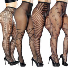 Hirigin Women's Pantyhose Tights Fishnet  Mesh Stockings Underwear Lace Sheer Plus Size sheer fishnet tights