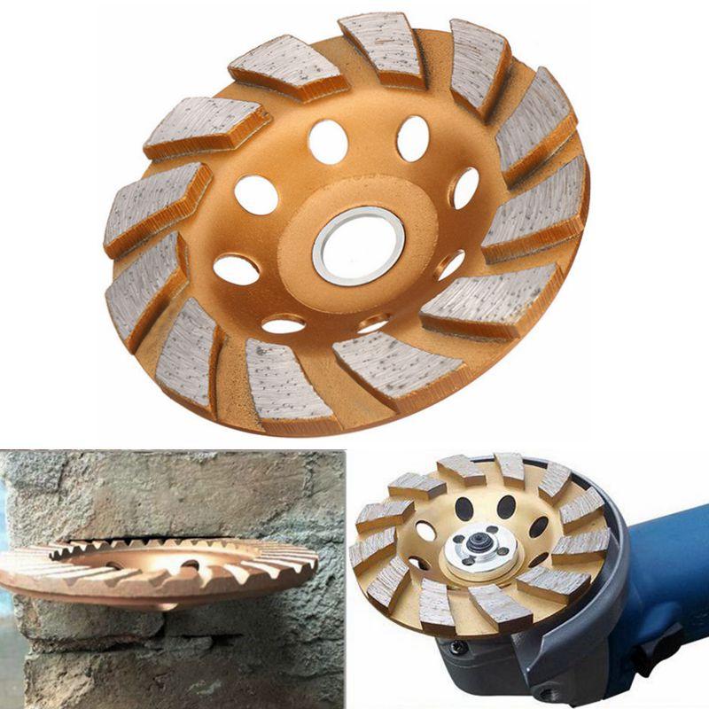 "4/"" 100mm Wood Grinding Wheel Diamond Segment Grinder Polishing Carving Disc"