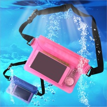 Women Men Waterproof  PVC Waist Packs Dry Pack Outdoor Swimming Pouch Phone Storage Bag Solid Travel Sport Mini