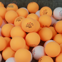 Huieson 50Pcs/Pack 3 Star New Material Training Seamed Table Tennis Balls D40+ ABS Plastic Ping Pong Balls for Training Fitness