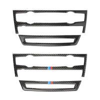 VODOOL Carbon Fiber Air Conditioning CD Control Panel Stickers Car Interior Trim for X5 E70 X6 E71 Carbon Fiber Accessories