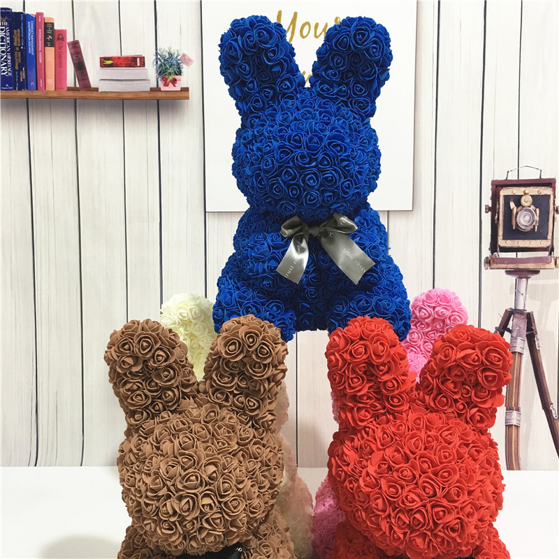 Artificial Rose Rabbit Dolls Wedding Valentine 39 S Day Birthday Girlfriend Toy Simulated Love Gift Anniversary Present in Artificial amp Dried Flowers from Home amp Garden