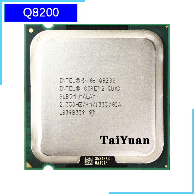 Intel Core 2 Quad Q8200 2.3 GHz Quad-Core מעבד מעבד 4M 95W 1333 LGA 775 title=