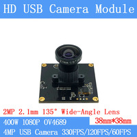 Wide angle 135degree High Speed 330FPS/120FPS/60FPS USB Camera Module 4MP Full HD 1080P Webcam UVC Plug Play Driverless