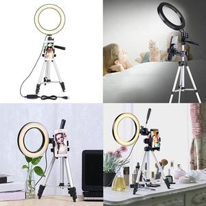 Image 4 - 7.9 inch Photo Studio Phone Stand with LED Beauty Ring Light Photography Dimmable Fill in Light Lamp+Tripod For Selfie Live Show