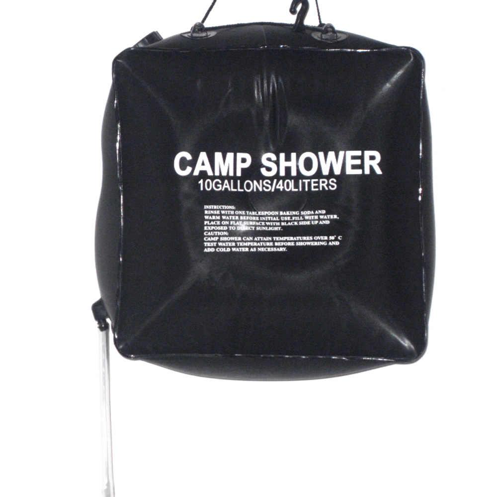 40L складной ПХВ резервуар для воды кемпинг Пеший Туризм подогревом лагерь душ