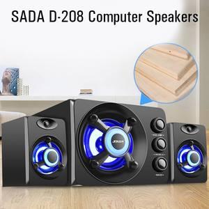 Image 2 - SADA D 208 3 en 1 définit Adio Bluetooth 2.1 canaux basse lumière LED ordinateur haut parleur Support TF u disk